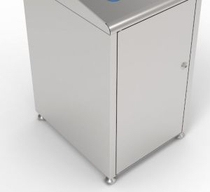T789050 Brushed stainless steel case for recycling waste bin 120 liters