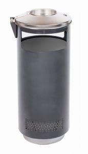 T776002 Poubelle avec cendrier pour extérieur 70 litres