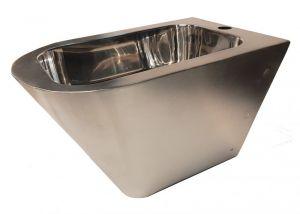 """LX3518 Bidet Professionale sospeso """"GQ  in acciaio inox Aisi 304 satinato con finitura interna lucida"""