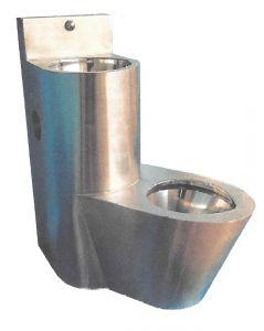 LX3680 Blocco Professionale combinato WC con lavabo - versione Destra - satinato