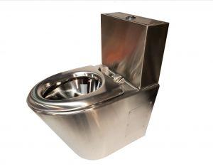 LX3780 WC Professionale lucido monoblocco con cassettiera 2 tasti con seduta inox