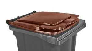 T910134 Coperchio Marrone per contenitore rifiuti esterni 120 litri