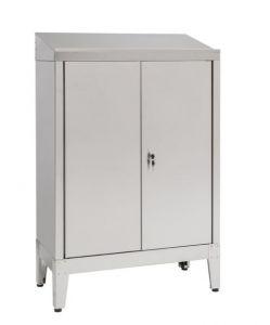 IN-699.02.430 Unidad de escritorio con 2 puertas en acero AISI 430 - dim. 80x40x115 H
