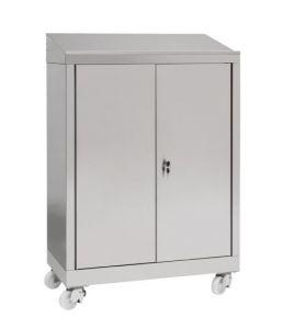 IN-699.04 Gabinete de escritorio con 2 puertas en AISI 304 - dim. 80x40x115 H