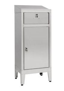 IN-699.01C Mesa de armario con cajón en acero AISI 304 - dim. 50x40x115 H