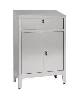 IN-699.02C Mesa de despacho con 2 puertas con cajón - dim. 80x40x115H