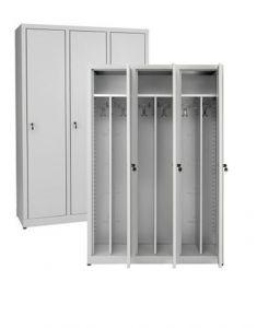 IN-Z.694.00.50 Dressing cabinet 3 Doors zinc-coated plastic 120x50x180 H