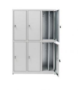 IN-Z.694.07 Armario de decoración 6 puertas Cinc plastificado superpuesto - 120x 40x180 H