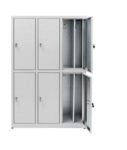 IN-Z.694.07.50 Armario de preparación 6 Puertas superpuestas de zinc plastificado 120x50x180 H
