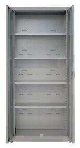 IN-Z.694.09 Armadio Portaoggetti a 2 Ante zinco plastificato - 100x40x180 H