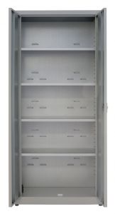 IN-Z.694.09.50 Armadio Portaoggetti a 2 Ante zinco platificato - 100x50x200 H