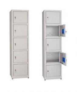 IN-Z.695.05 Multipurpose plastic storage cabinet with 5 seats - Dim. 45x40x180 H