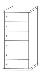 IN-Z.695.06 Multi-layered plastic storage rack with 6 places - dim. 45x40x180 H