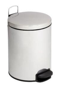 T112125 Cubo de basura con pedal con tapa silenciosa acero inox brillante 12 litros
