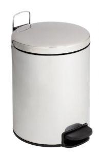 T112205 Cubo de basura con pedal con tapa silenciosa acero inox brillante 20 litros