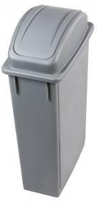 T102210 Corbeille avec couvercle basculant Polypropylène Gris 90 liters
