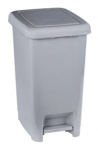 T909940 Grey polypropylene pedal bin 40 liters (Pack of 6 pieces)