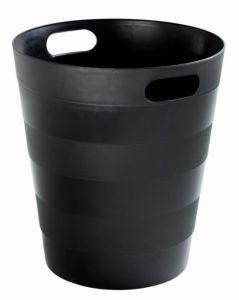 T907121 Corbeille à papier en polypropylène recyclé noir 12 litres (multiples 20 pcs)