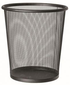 T150531 Corbeille à papier perforée Metal noir 13 litres (multiples 20 pcs)