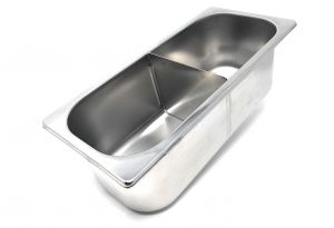 VG361612-D Ice cream tray with stainless steel 360x165x h120 mm divider