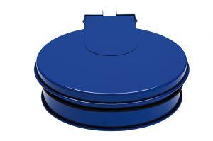 T601011 Bag holder with lid Blue steel