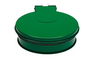 T601013 Bag holder with lid Green steel