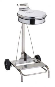 T601041 AISI 430 Stainless steel Wheeled pedal operated sack holder