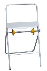T700030 Porta rollos bobinas papel industrial de pie metal blanco