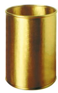 T700059 Corbeille à papier cylindrique en laiton 13 litres