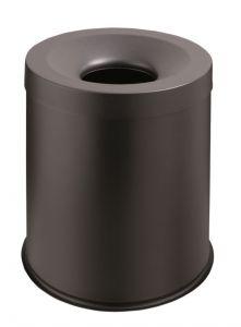 T770001 Gettacarte antifuoco metallo nero 15 litri