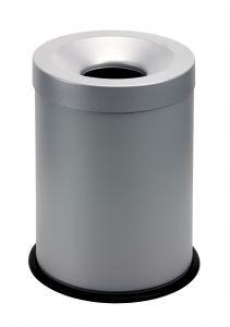 T770002 Gettacarte antifuoco metallo grigio 15 litri