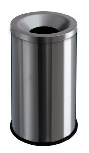 T770010 Brushed stainless steelf fireproof paper bin 50 liters