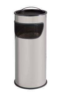 T775012 Cendrier-Corbeille 25 litres métal gris avec sable