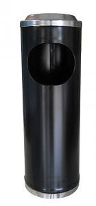 T790113 Poubelle-cendrier métal noire 11 litres