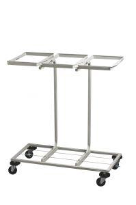 T108010 Portasacchi mobile per raccolta differenziata 3x110 litri