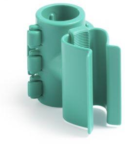 00003591 Portamanico Con Attacco per Tubi - Verde