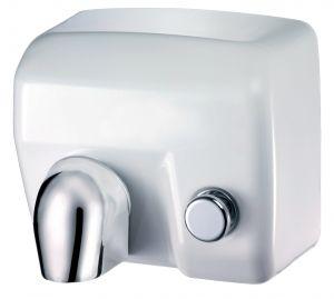 T704175 Asciugamani elettrico a pulsante acciaio porcellanato bianco