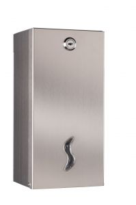 T105026 AISI 304 polished s. steel Interfold toilet tissue dispenser double
