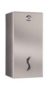 T105026 Distributore carta igienica interfogliata doppio acciaio inox AISI 304 brillante