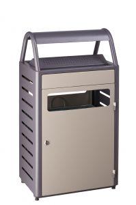T103015 Grey steel Ashbin for outdoor areas 8+50 liter