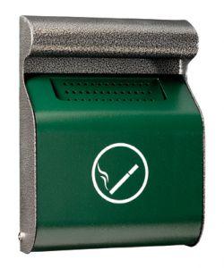 T103013 Green dapple silver steel wall mounted ashtray 3 liters