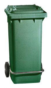 00005054 PattumiERa 120 L - Verde Scuro - Con Pedale E Anel