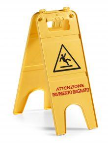 00003558 Segnale 2 Ante - Giallo - Con Sistema Di Aggancio rapido brevettato