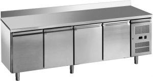 G-GN4200BT-FC Tavolo freezer ventilato 4 porte in acciaio inox AISI201