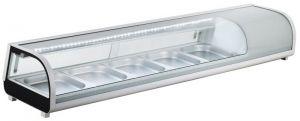 G-RI12033V - Vitrina refrigerada estática de ingredientes de acero inoxidable para gastronorm