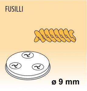 MPFTFU15 Extrusor de aleación latón bronce FUSILLI para maquina para pasta fresca