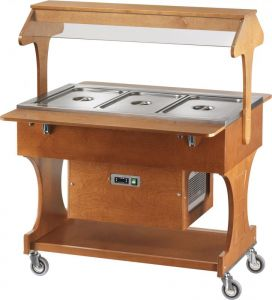 CLR2786N Refrigerated trolley (+2°+10°C) 3x1/1GN top