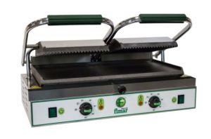 PE50LNT Placa de cocción de hierro fundido doble lisa / acanalada trifásica 3400W