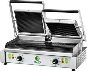 PE50RNT Plaque de cuisson en fonte à deux rangées 3400W triphasée