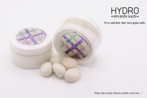 HY-1159 Hydro Bio Skin Care Sali da bagno - sabbia di sale aloe vera vasetto 130gr. 56 pezzi